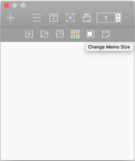 Click on the Change Memo Size icon repeatedly from the submenu to change the paper size.