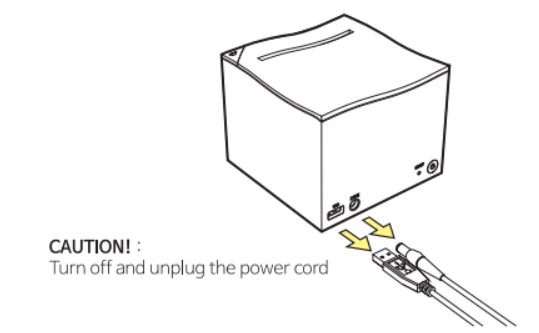 Make sure to turn off the power and unplug the power cord before cleaning.