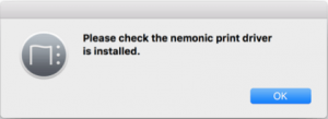 If a warning message appears as below when you request to print immediately after installing the program