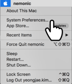 1. Click on the Mac System Preference